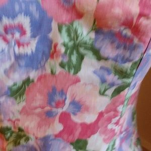 Classic Vintage 1980s Garden Party Dress